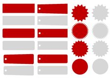 E Retail tabs, badges and Flashes. A collection of tags, badges and flashes ideal for e-retail sites and other graphic and web design projects Royalty Free Stock Image