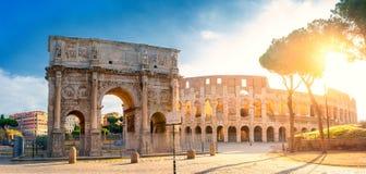 E Rome arkitektur och gränsmärke arkivbild