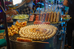 E-Saan Sausage, the native food of Thailand Royalty Free Stock Photography