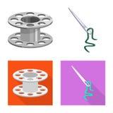 E Samling av hantverk- och branschvektorsymbolen f?r materiel royaltyfri illustrationer
