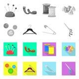 E Samling av illustrationen f?r hantverk- och branschmaterielvektor vektor illustrationer