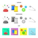 E Samling av illustrationen f?r hantverk- och branschmaterielvektor stock illustrationer