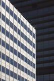 E Samtida arkitektur stads- horisont fotografering för bildbyråer