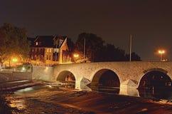 E Sceniczna jesieni nocy krajobrazu fotografia obrazy royalty free