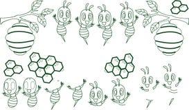 E Schöne nette Biene r Vektorabbildung getrennt vektor abbildung