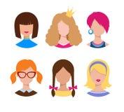 Żeńscy avatars Fotografia Royalty Free