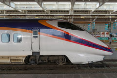 E3 Series bullet (High-speed or Shinkansen) train at Shinjo stat Royalty Free Stock Images