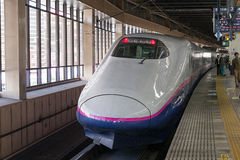 E2 Series bullet (High-speed or Shinkansen) train. Royalty Free Stock Images