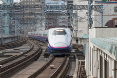 E2 Series bullet High-speed,Shinkansen train. Royalty Free Stock Photos