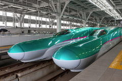 E5 Series bullet (High-speed or Shinkansen) trains. Royalty Free Stock Photo