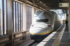 E4 Series bullet(High-speed) train. Stock Photo
