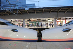 The E2 Series bullet  train. The E2 Series bullet (High-speed) train  at 2016 Stock Photos