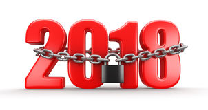 2018 e serratura illustrazione vettoriale