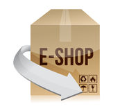 E shop box concept illustration design Stock Image