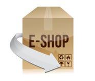 E shop box concept illustration design Stock Image