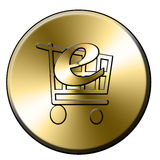 E-shop button Stock Photo