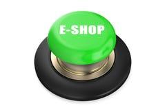 E-shop Green button Royalty Free Stock Photos