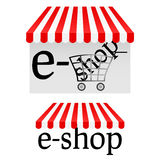 E-shop icons Royalty Free Stock Photos