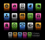E-Shop Icons / Royalty Free Stock Image