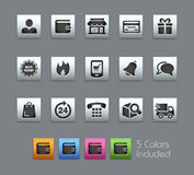 E-Shop Icons -- Satinbox Series Stock Image