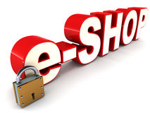 E shop Stock Photography