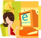 E shopping Royalty Free Stock Images