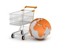 E-Shopping begreppsillustration Royaltyfri Foto