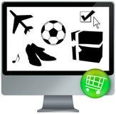 E-shopping cart Royalty Free Stock Photography
