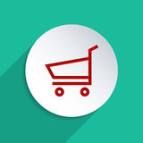 E-Shopping. Concept for e-commerce. Flat design element Royalty Free Stock Images
