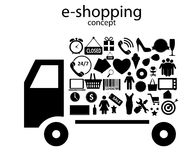 E-shopping concept icons vector illustration Stock Photo