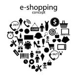 E-shopping concept icons vector illustration. E-shopping concept  icons vector illustration. This is file of EPS10 format Stock Images