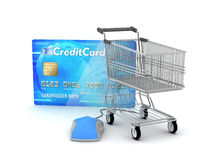 E-shopping concept illustration Royalty Free Stock Image