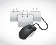 E shopping concept illustration design Royalty Free Stock Image