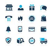 E-Shopping Icons // Azure Series Stock Photo