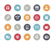 E-Shopping Icons // Classics Royalty Free Stock Photos