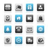 E-Shopping Icons // Matte Series Royalty Free Stock Photos