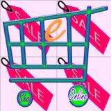 e-shopping online del negozio Fotografie Stock Libere da Diritti