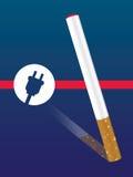 E-sigaretta con l'icona della spina Fotografia Stock