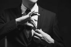 E-sigaretta di fumo di dipendenza di cattiva abitudine Fotografie Stock Libere da Diritti