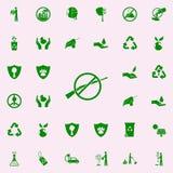 E sistema universal de los iconos de Greenpeace para el web y el móvil ilustración del vector