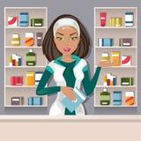 Żeńska farmaceuta wektoru ilustracja Zdjęcie Stock