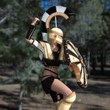Żeński gladiator Obraz Stock