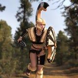 Żeński gladiator Fotografia Stock