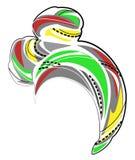 ?e?ski headpiece dla kobiety, turban Jaskrawy trykotowy zielony szalik Krajowy elegancki i pi?kny odziewamy r?wnie? zwr?ci? corel ilustracji