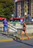 Żeński marathoner Sofia bulwar Zdjęcie Royalty Free
