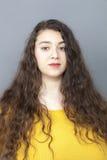 Żeński portret dla pokojowej 20s nadwaga kobiety Fotografia Royalty Free