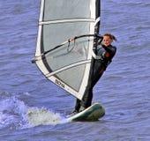 Żeński surfboarder Zdjęcie Royalty Free