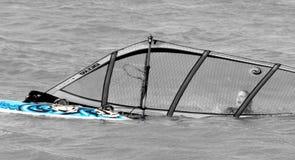 Żeński surfboarder w wodzie Zdjęcia Stock