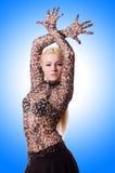 Żeński tancerza taniec Zdjęcia Royalty Free