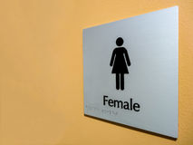 Żeński toaleta znak Obraz Stock